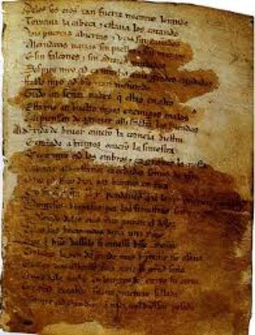 Literatura: El poema del Mio Cid.