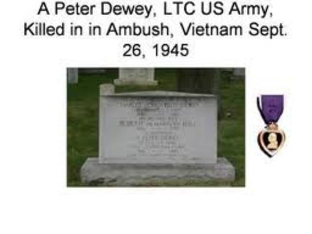 First American is Killed in Vietnam