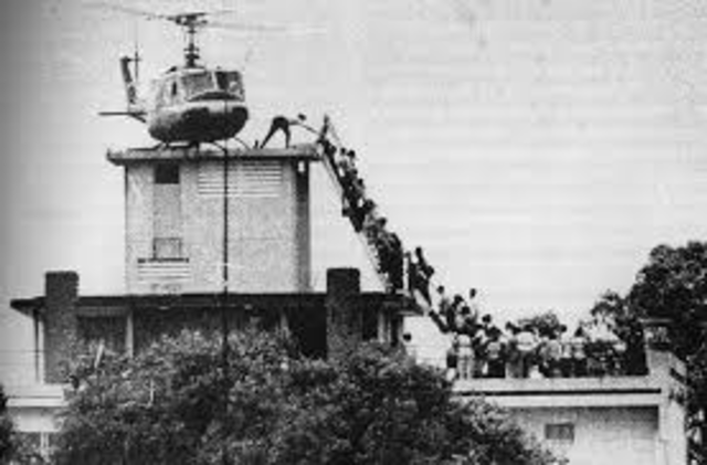 Last Americans Leave as Saigon Falls to the North