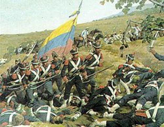 Bolívar's forces invaded Venezuela from New Granada