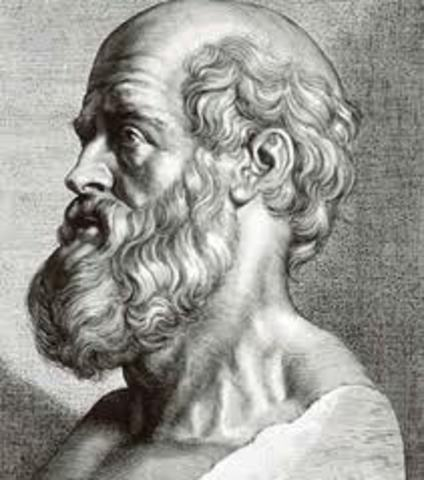 Hippocrates comes up with humoral theory