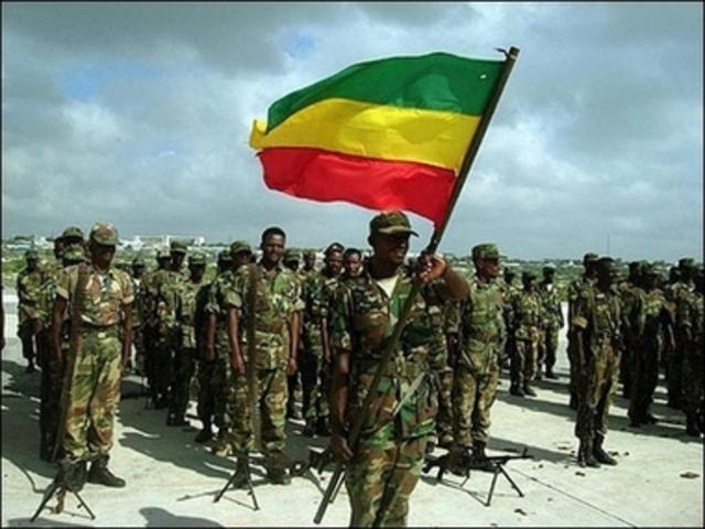 Troops build in Ethiopia