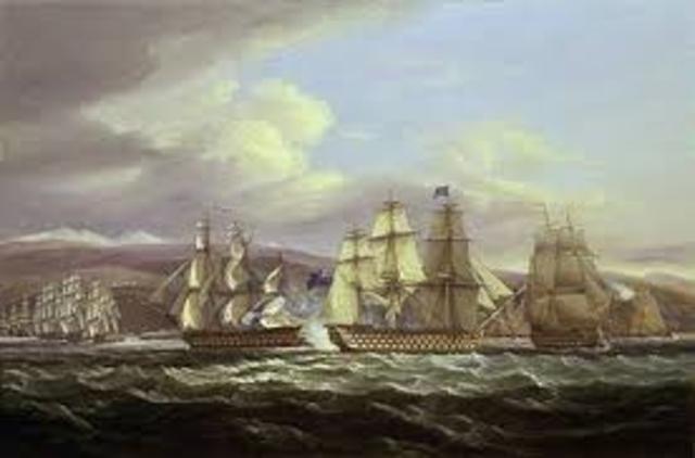 Brtain Blockades American Ports