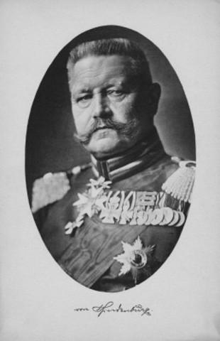 Paul Von Hindenburg for president