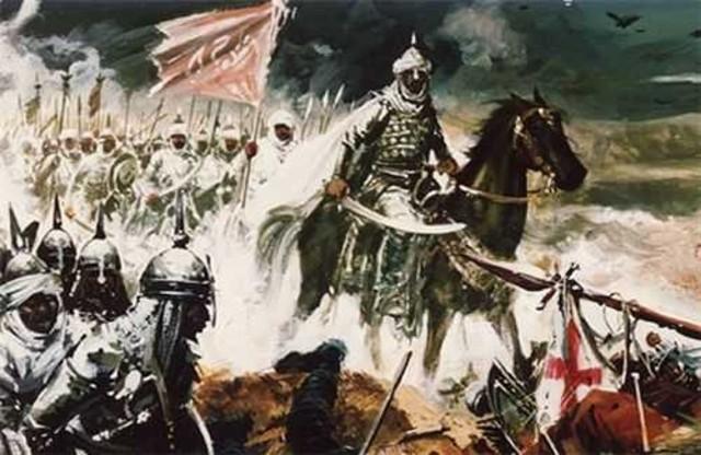 LLegada de los primeros musulmanes a la Peninsula Iberica