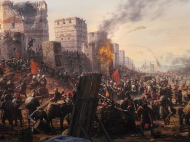 Fin del Imperio Bizantino o Imperio Romano de Oriente.