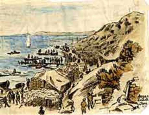 The start of the Gallipoli Campaign