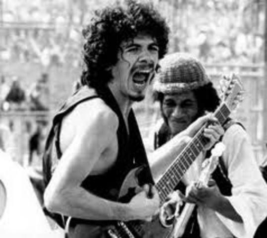 Carlos Santana en Woodstock