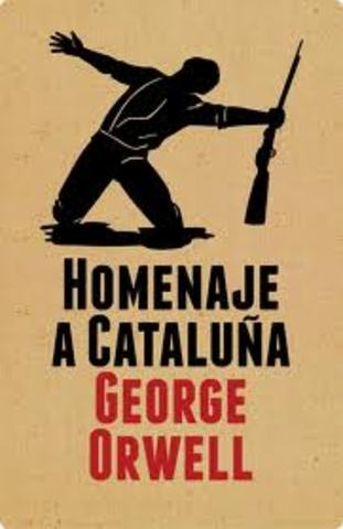 "George Orwell escribe ""Homenaje a Cataluña"""
