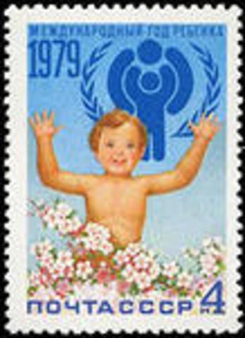 Die Organisation der Vereinten Nationen bestimmte das Jahr 1979 -  wie ein Internationales Jahr des Kindes. Früher waren einige Kinder unglücklich.