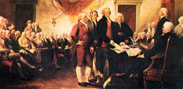 Declaracion de la Independencia de las 13 colonias