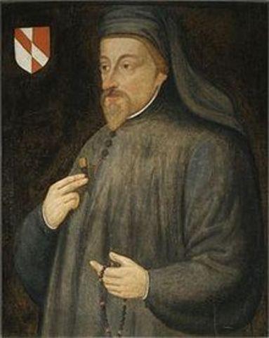 Geoffrey Chaucer (c. 1343 – 25 October 1400)