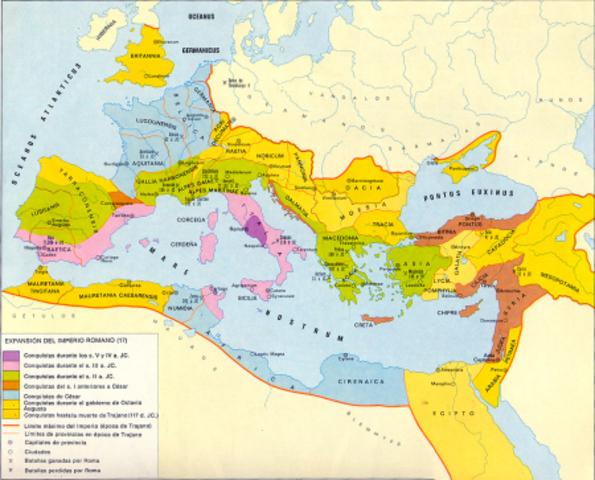 Expasión del imperio Romano
