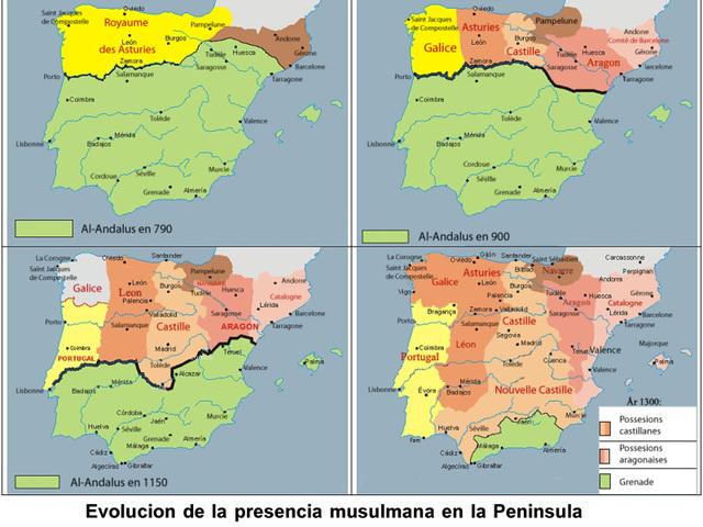 Invasión musulmana a España.