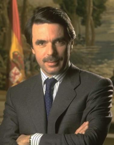 Presidente del gorbierno Jose Maria Aznar
