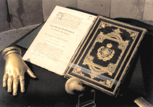 D. Pedro IV outorga a Carta Constitucional.