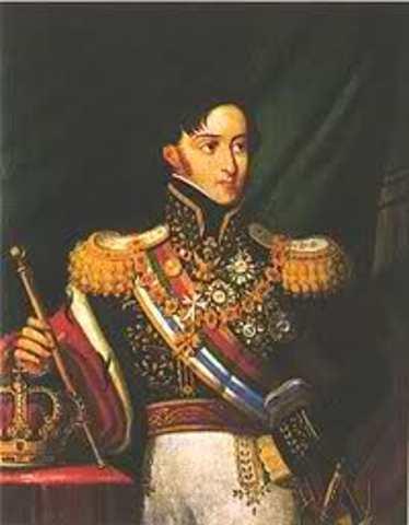D. Miguel dissolve as Cãmaras e proibe o Hino da Carta.
