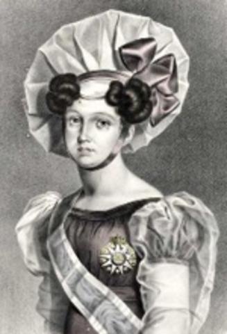 A infanta D. Isabel Maria, torna-se regente em nome de D. Maria II.
