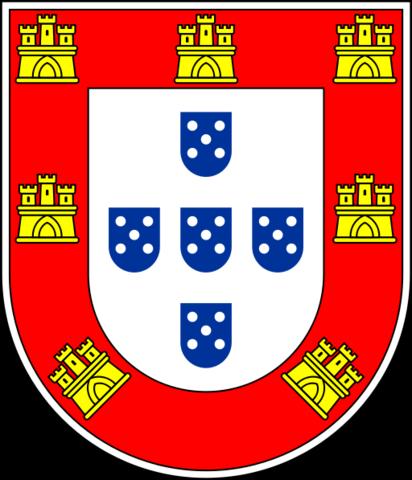Nova bandeira portuguesa, bicolor (azul e branco).