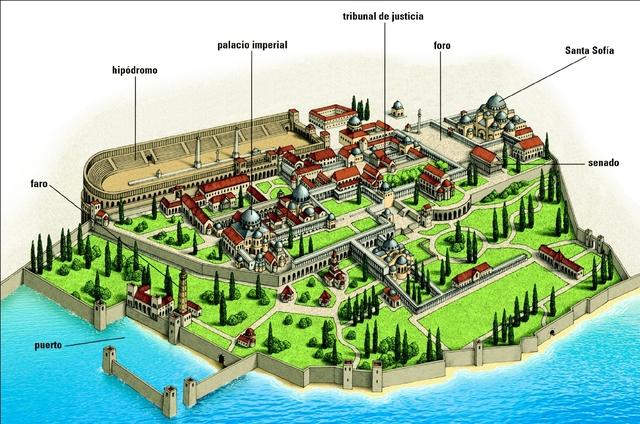 Proclamación de la nueva capital del Imperio Romano (Bizancio)