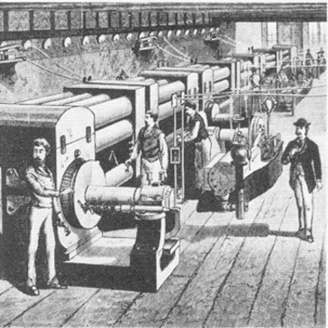 Desenvolupament de la primera central elèctrica