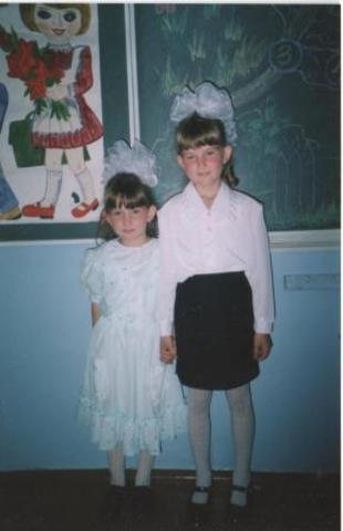 Сестра Наташа пошла в первый класс