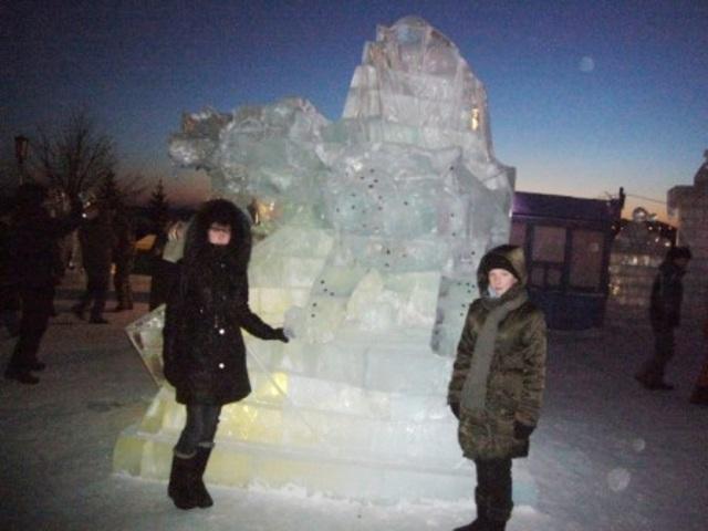 В Снежном городке. Новосибирск