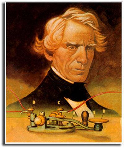 Samuel Morse inventa el telégrafo.