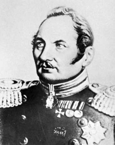 Fabian Von Bellinghausen first sights the continent