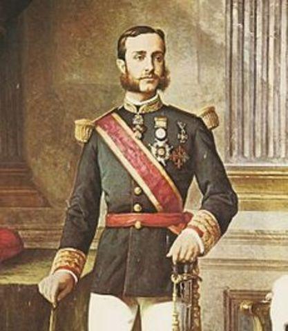 ALFONSO XII BORBÓN. (Madrid, 28 de noviembre de 1857 – El Pardo, 25 de noviembre de 1885)