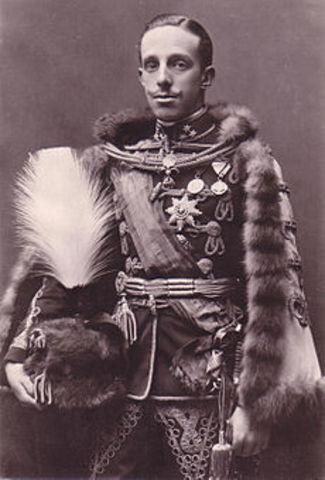 ALNFONSO XIII. (Madrid, 17 de mayo de 1886 – Roma, 28 de febrero de 1941)