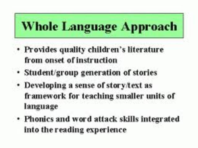 Psycholinguistic & Whole Learning Theory