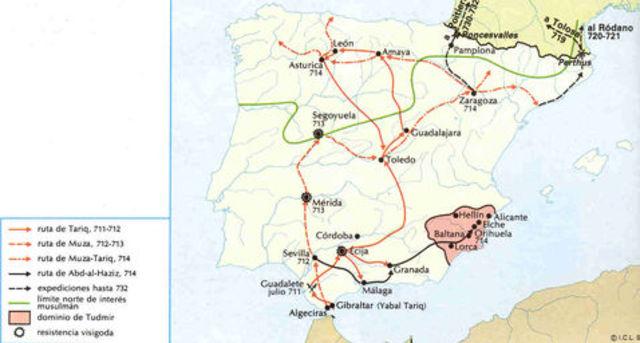 Entrada de musulmanes por el Estrecho de Gibraltar