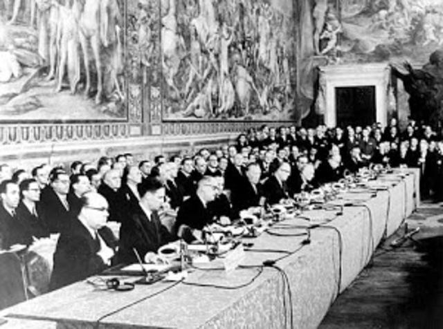 Se firma el Tratado de Roma, dando vida al Mercado Común Europeo