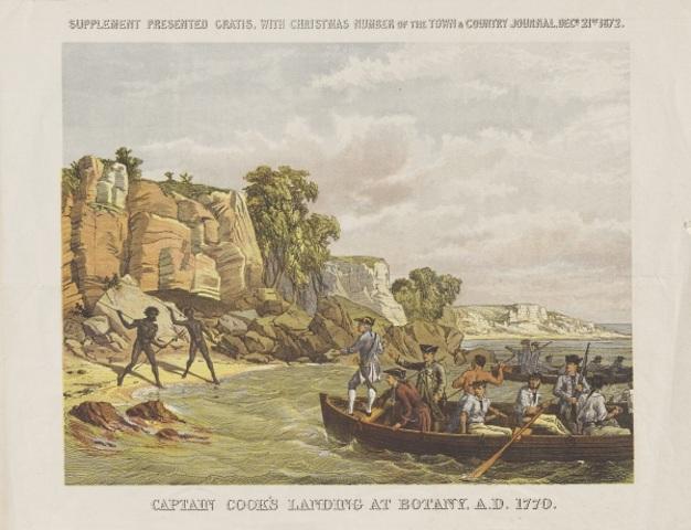 Captain Cooks discovery of the Terra Nullius.