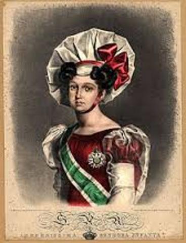 A infanta D. Isabel Maria  torna-se regente