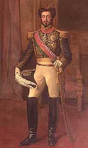 Saída do ex-imperador do Brasil (D. Pedro), para a Europa.