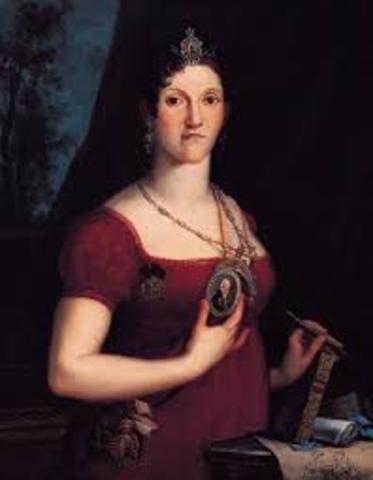 Morte da rainha viúva D. Carlota Joaquina, em Lisboa.