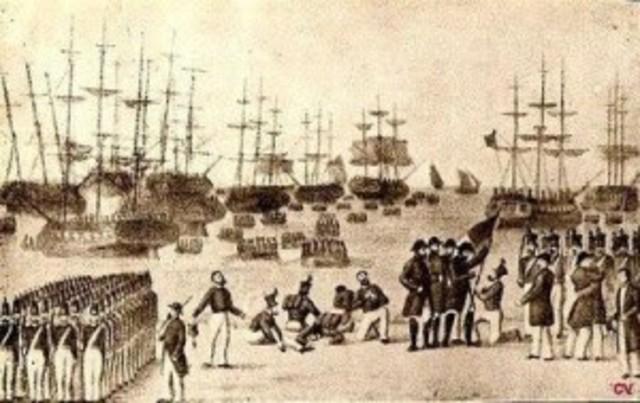 Entrada no Porto do exército liberal.