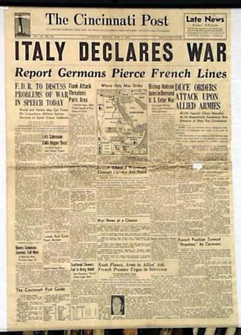 Italy declares war on Turkey