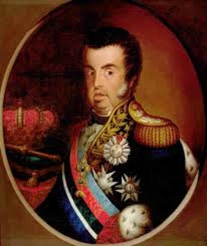 D. João VI nomeia D. Pedro regente e seu lugar-tenente no Brasil.