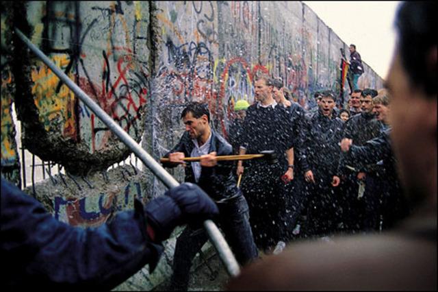 Caida del muro de Berlín.