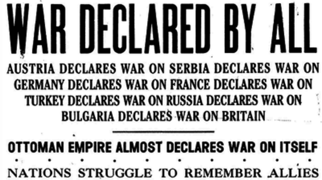 Austria-Hungary delcares war on Russia