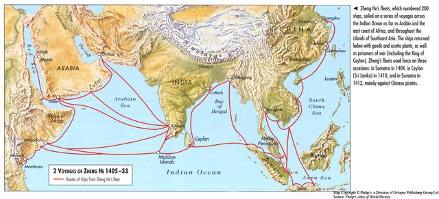 early 1400s Zheng He