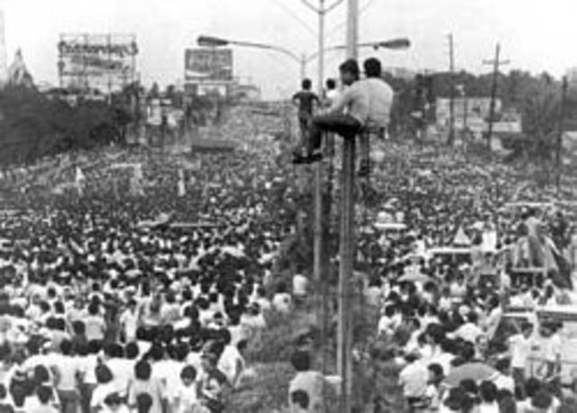 Marcos Regime is Uprooted, Corazon Aquino Becomes President.