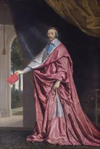 Cardinal richelieu increases power of Bourbons and weakens Nobles