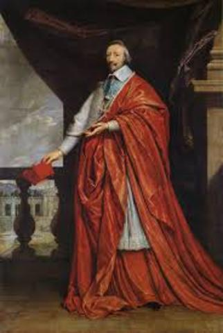 Cardinal Richelieu becomes ruler of France