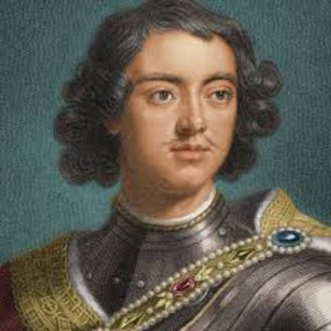 Peter the Great becomes sol czar of Russia