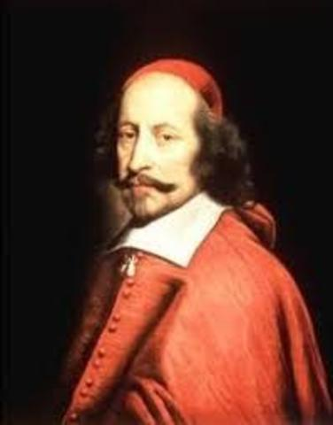 Cardinal Richelieu becomes leader in France
