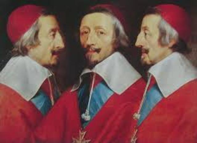 Cardinal Richelieu is appointed minister of France